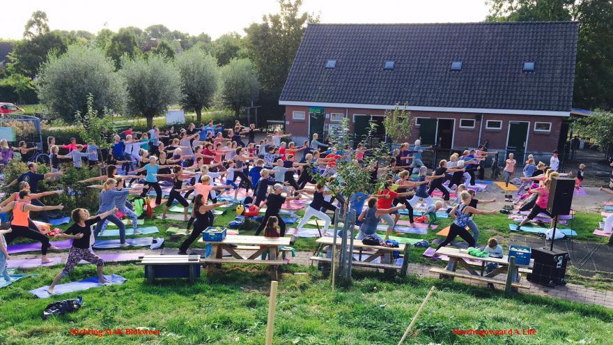 Yoga in de openlucht